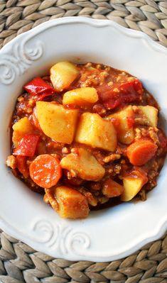 Leczo z mięsa mielonego z ziemniakami, czyli szybkie danie jednogarnkowe | Inspiracje Kulinarne