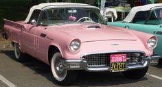 pink 1957 thunderbird