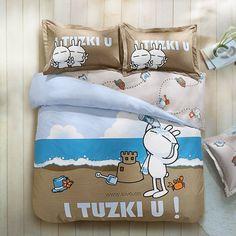 Go to the beach with Tuzki, let's enjoy the holiday!