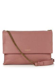 LANVIN Sugar Leather Cross-Body Bag. #lanvin #bags #shoulder bags #leather #lining #