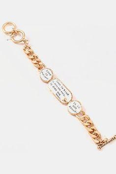 Love Is Bracelet in Gold