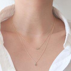 Rose Cut Diamond Solitaire Necklace | Jamie Park Jewelry, Rose Cut Diamond