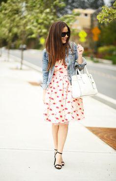 Flamingo платье джинсовую куртку