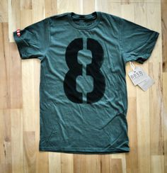 Number 8 Handmade T-Shirt Stencil by 88th Co.