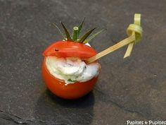 Tomates cerises farcies à la Ricotta, ou comment se la peter à l'apéro!