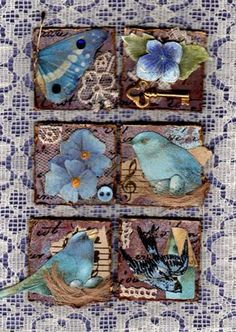 Blue nature inchies by Catharinas-Love, via Flickr