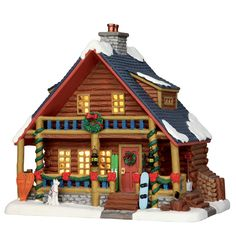 Lemax Parker's Cabin. SKU# 55988 Released in 2016 as a Lighted Building for the Vail Village Collection.