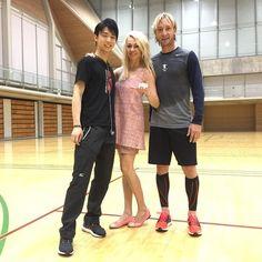 Between two Olympic champions and great skaters Yuzuru Hanyu and Evgeny Plushenko #plushenkoofficial #fantasyonice2015 #japan #plushenko #yuzuruhanyu