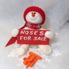 *SNOWMAN ~  ornament with noses for sale.