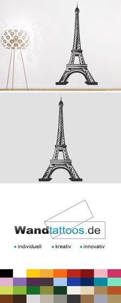Wandtattoo Eiffelturm Als Idee Zur Individuellen Wandgestaltung. Einfach  Lieblingsfarbe Und Größe Auswählen. Weitere Kreative