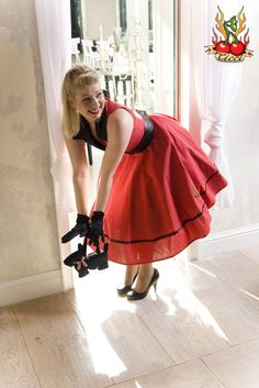 Cute Red Pinup dress by TicciRockabilly on Etsy, $75.00
