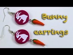 How to make a bunny cane . Polymer clay earrings/ Fimo Tutorial. - YouTube