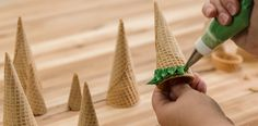 How-To Make a Three-Tier Frozen Birthday Cake Ice Cream Cone Trees