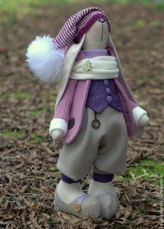 Купить Заяц Leoni - текстильная игрушка (39 см) - сиреневый, зайка игрушка…