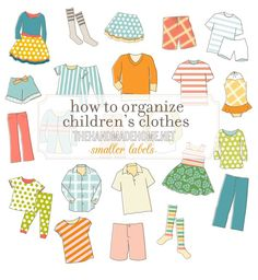 How To Organize Childrens Clothes