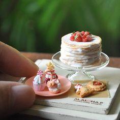#miniature #food #minifood #strawberry #pancakes #cake #cupcakes