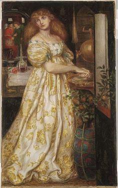 ROSSETTI, Dante Gabriel  English Pre-Raphaelite (1828-1882)_Lucrezia Borgia - 1871