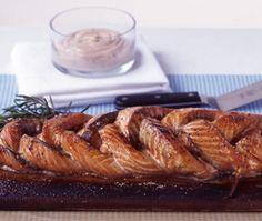 saumon glacé à l'érable et grillé au barbecue
