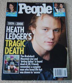 People Magazine February 4 2008 HEATH LEDGER death Miley Cyrus Eddie Murphy #HeathLedger