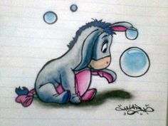 So cute eeyore drawing