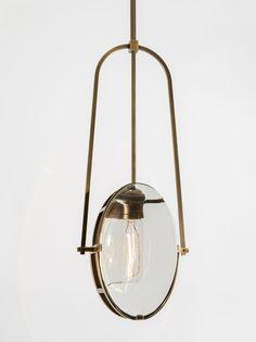 ALISON BERGER Aura pendant, modern or contemporary hanging pendant light Cool Lighting, Modern Lighting, Lighting Design, Drop Lights, Hanging Lights, Pendant Chandelier, Pendant Lighting, Ceiling Lamp, Ceiling Lights
