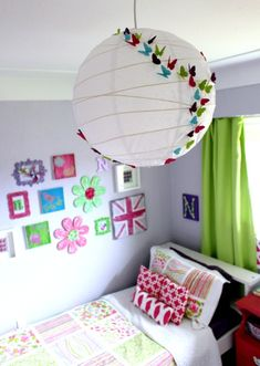 Little Turning Big Girl Bedroom Reveal at The Happy Housie - lots of thrifty ideas for creating an adorable space