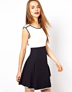 French Connection Monochrome Skater Dress
