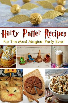 41 Magical Harry Potter Recipes Harry Potter Recipes - This Harry Potter food is going to be perfect for any Harry Potter party. From Butterbeer to cake, you can't go wrong with any of this delicious Harry Potter themed food Harry Potter Snacks, Baby Harry Potter, Harry Potter Halloween, Harry Potter Motto Party, Harry Potter Fiesta, Harry Potter Thema, Harry Potter Marathon, Theme Harry Potter, Harry Potter Baby Shower