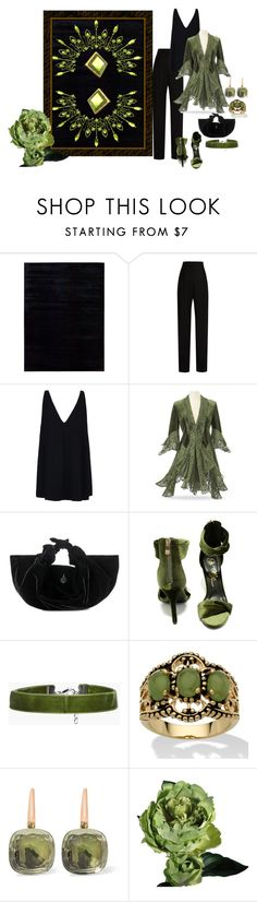 """""""A little velvet goes a long way"""" by barebear1965 ❤ liked on Polyvore featuring Calvin Klein, Lanvin, STELLA McCARTNEY, The Row, So Me, Boohoo, Palm Beach Jewelry, Pomellato and Abigail Ahern"""