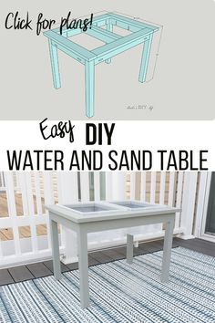 Easy DIY water table for toddlers and kids! This simple water table made from wo… Easy DIY water table for toddlers and kids! This simple water table made from wood is perfect for summer. Learn how to make it and get the printable plans! Awesome Woodworking Ideas, Woodworking For Kids, Woodworking Workbench, Woodworking Furniture, Diy Furniture, Woodworking Projects, Woodworking Classes, Wood Projects, Toddler Furniture