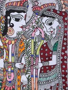 Ram Sita Madhubani Painting x Madhubani Art, Madhubani Painting, Turbans, Outline Drawings, Art Drawings, Indian Folk Art, Indian Artist, Indian Art Paintings, Tribal Art