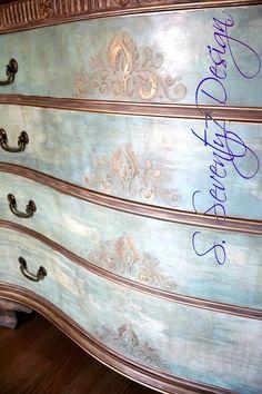 Chalk painted dresser