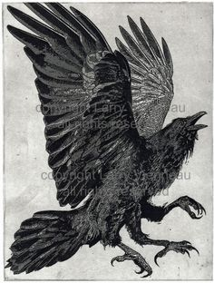 The Three Legged Birds- Sanzuwu, Yatagarasu, and Samjok-o Aquatint etching 8 inch x 10 inch 2016  I have decided to re introduce my Three Legged Birds with a larger image. I have recieved several requests for a larger print so I recreated it. I am very satisfied with this new version, the value range and detail is better then the original  In Chinese mythology and culture, the three-legged crow is called the Sanzuwu and is responsible for the sun's passage across the sky. The earliest known…
