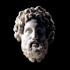 Colossal marble head of Asclepius  Greek, c. 325-300 B.C. Found on Milos, Southern Aegean, Greece The British Museum