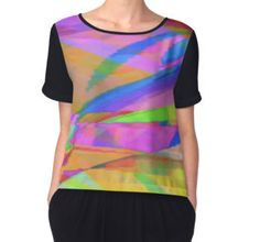 'Island Colours' Women's Chiffon Top available at http://www.redbubble.com/people/chrisjoy/works/12458773-island-colours?p=chiffon-top&style=chiffon-top&body_color=black