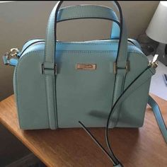 Tiffany blue Kate spade Beautiful Tiffany blue Kate spade purse! Never used. No trades, price is firm. Cheaper on mercari kate spade Bags Satchels