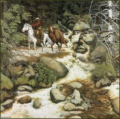 Bev Doolittle  Sometimes I get mad at her work as I do not know how many to count..and have I found them all!