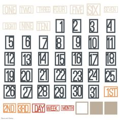 Cricut Days and Dates Garden Of Words, One Two Three, Cricut Cartridges, Cricut Fonts, Basic Shapes, Clean Design, Dating, Quotes