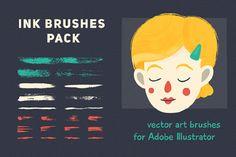 Vector Brush Set for Illustrator – Free Demo