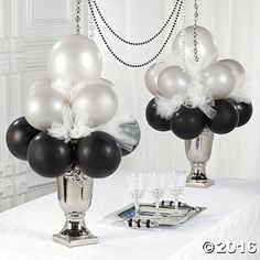 Bulk Onyx Black 11 Latex Balloons is part of Wedding decor Balloons - Jazz up your party decorations! In a variety of classic colors, these 11 balloons add a festive touch your birthday party décor, wedding recepti read Unique Wedding Centerpieces, Party Centerpieces, Unique Weddings, Wedding Themes, Centerpiece Ideas, Masquerade Centerpieces, 50th Birthday Centerpieces, Trendy Wedding, New Years Party