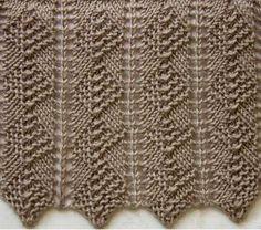String rhomboids cool knitting pattern