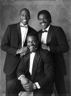 Classic Picture of Michael Jordan, Daryl Hawkins, and my fave Walter Payton