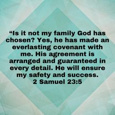 Good Scriptures, 2 Samuel, The Covenant, Bible, Biblia, The Bible