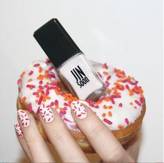 Sprinkled nails by #JINsoon on the #Sephora Beauty Board