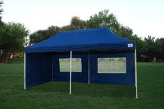 10x20 Pop Up 6 Walls Canopy Party Tent Gazebo Ez Navy Blue F Model Upgraded Frame By Delta Canopies Click Image For More Deta Party Tent Gazebo Go Camping