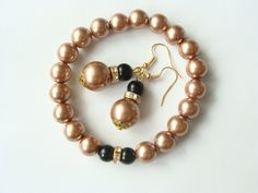 Brancelet And Earings With Zirkonia Elements by CarolinePrecjoza on Etsy