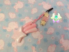 Kawaii Shooting Star Dust Plug  Phone Strap  by SammysJewels