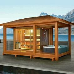 Garden Sauna With Shower And Jacuzzi