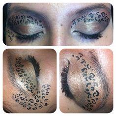 Cheetah Print eyes that did for a friend