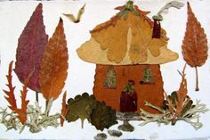 Pressed Plant Faery Cottage Collage by pandorajane on Etsy, $55.00